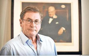 Lord Ashcroft basking in Churchill's reflected glory