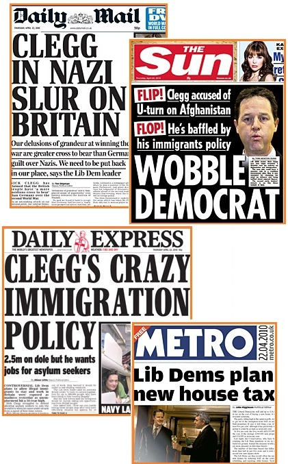 Tabloids+on+Clegg+sensation