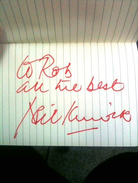Neil Kinnock's Autograph