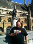 11. Rob went to the statue of Oliver Cromwell, who led the commonwealth in the middle of the Stuart period. He (Rob, not Cromwell) read Isaiah 40:20-24.