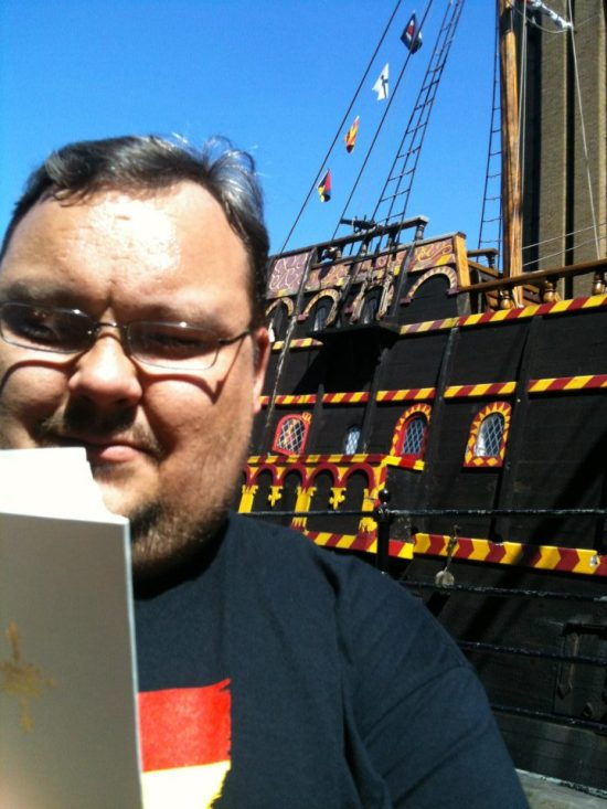 8. Leaping over to the Tudor period, Rob visits the Golden Hynde which Francis Drake sailed into Plymouth in 1580, having circled the globe. Rob scared small children by reading Jonah 2.