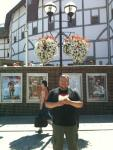 9. Rob continued in the Tudor period at the Globe. People queueing for a matinee seemed to like his reading of Matthew 6 until Police asked if he had a public performance license.